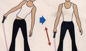 フィットネスチューブトレーニング 腹部