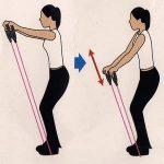 フィットネスチューブ 肩・背筋 筋トレ1