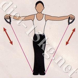 フィットネスチューブトレ 肩・背筋 筋トレ2