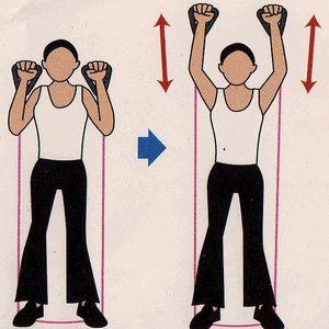 フィットネスチューブを使ったトレーニング法 肩・背筋 筋トレ2
